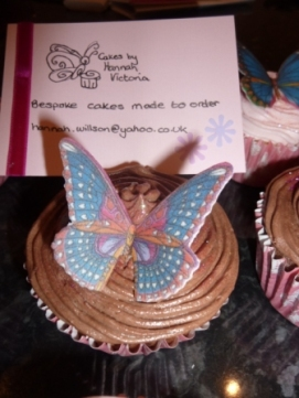 Butterfly and Cakesbyhannahvictoria card