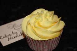 Lemon Curd cupcake with business card