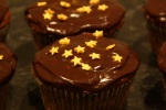 Chocolate fondant star cupcake