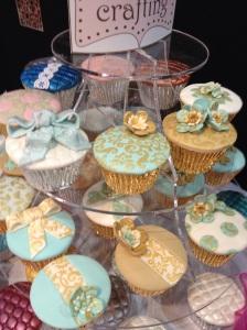 Cake Internaional gold embossed cupcake