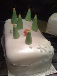 Snow-scape Christmas cake