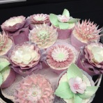 Cake International pastel flower cupcake
