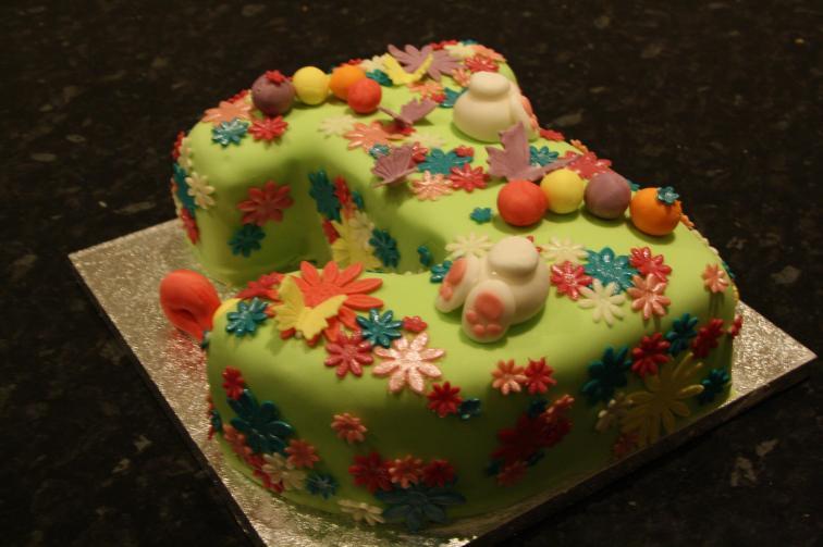 J springtime birthday cake