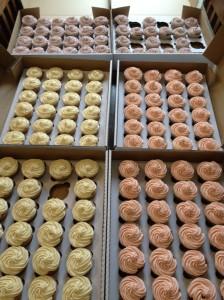 120 wedding cupcakes