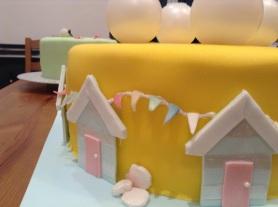 Beach Hut Wedding Cake