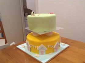 Country meets Beach Wedding Cake