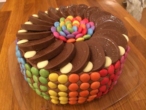 smartie birthday cake