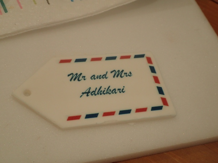 edible luggage label