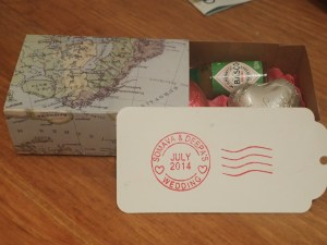 travel themed wedding favour